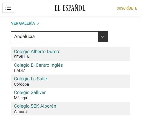 Beste Schule Sevillas nach dem Ranking der Tageszeitung EL ESPAÑOL