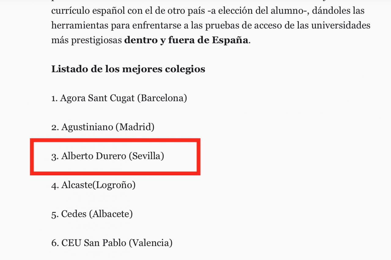 """AUF DEN VORDEREN PLÄTZEN LAUT RANKING DER TAGESZEITUNG """"EL ESPAÑOL"""""""