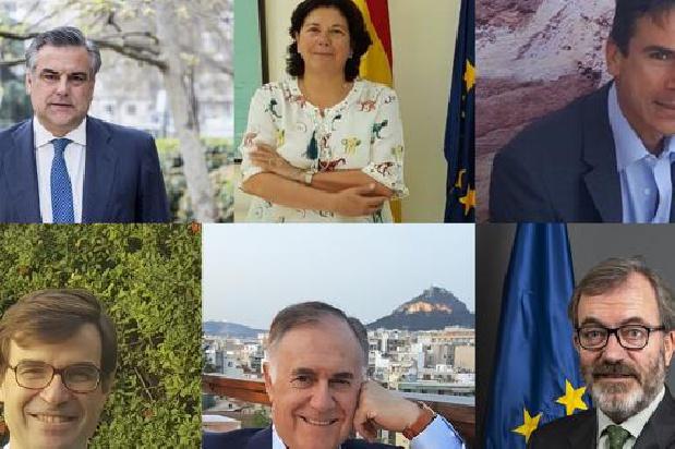 ENRIQUE VIGUERA, RICARDO MARTÍNEZ UND JESÚS SILVA, DREI EHEMALIGE SCHÜLER DER DEUTSCHEN SCHULE SEVILLA  SIND ZUR ZEIT SPANIENS BOTSCHAFTER