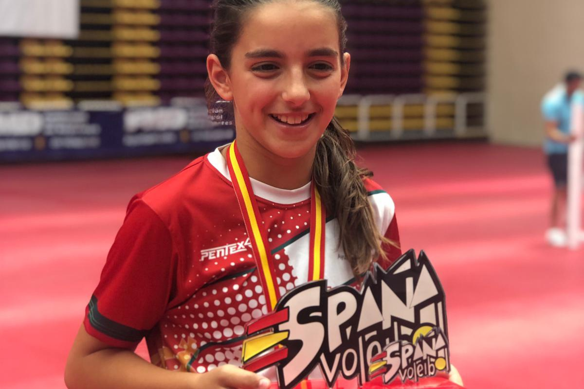 SARA GONZÁLEZ MORALES: SPANISCHE VOLLEYBALL-MEISTERIN