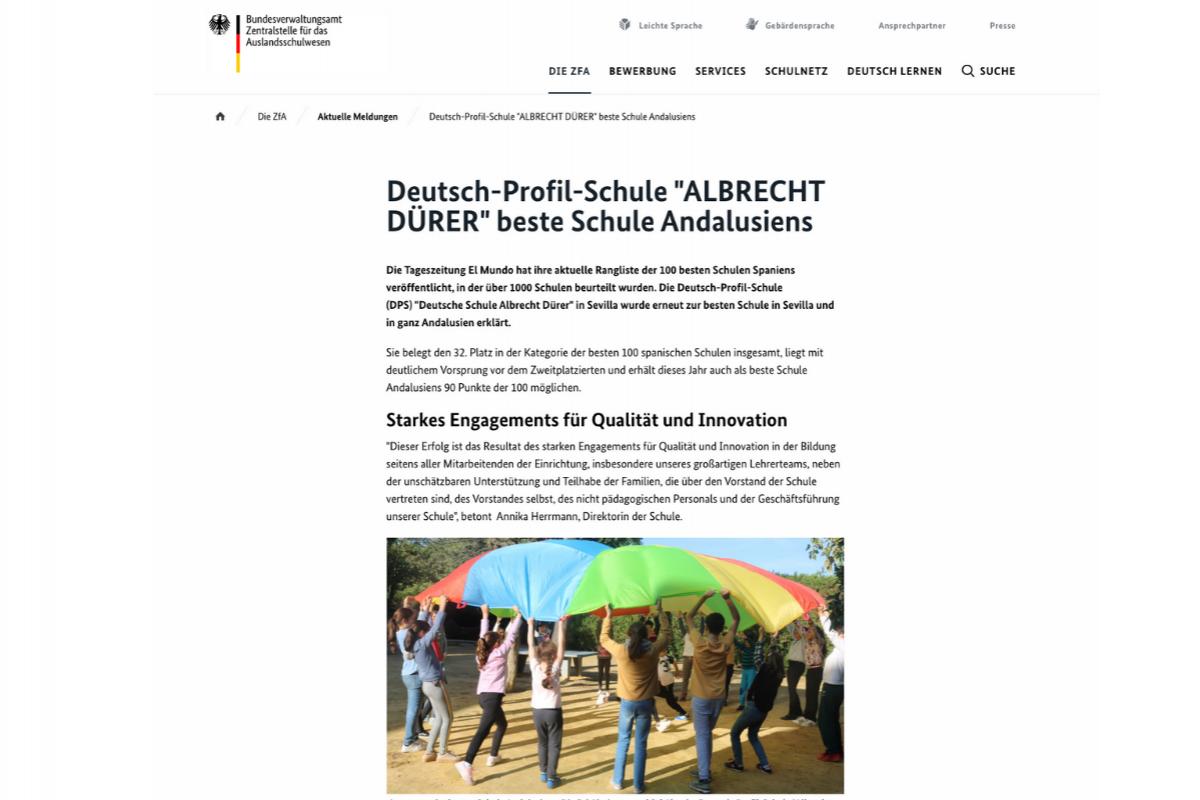 Die Deutsche Schule Sevilla auf der Website der ZfA