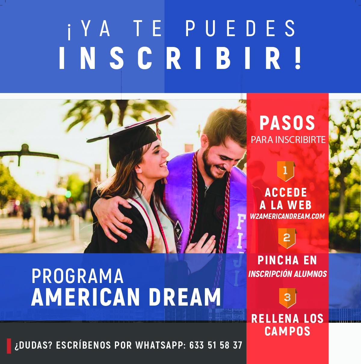 ABIERTAS LAS INSCRIPCIONES DEL PROGRAMA AMERICAN DREAM