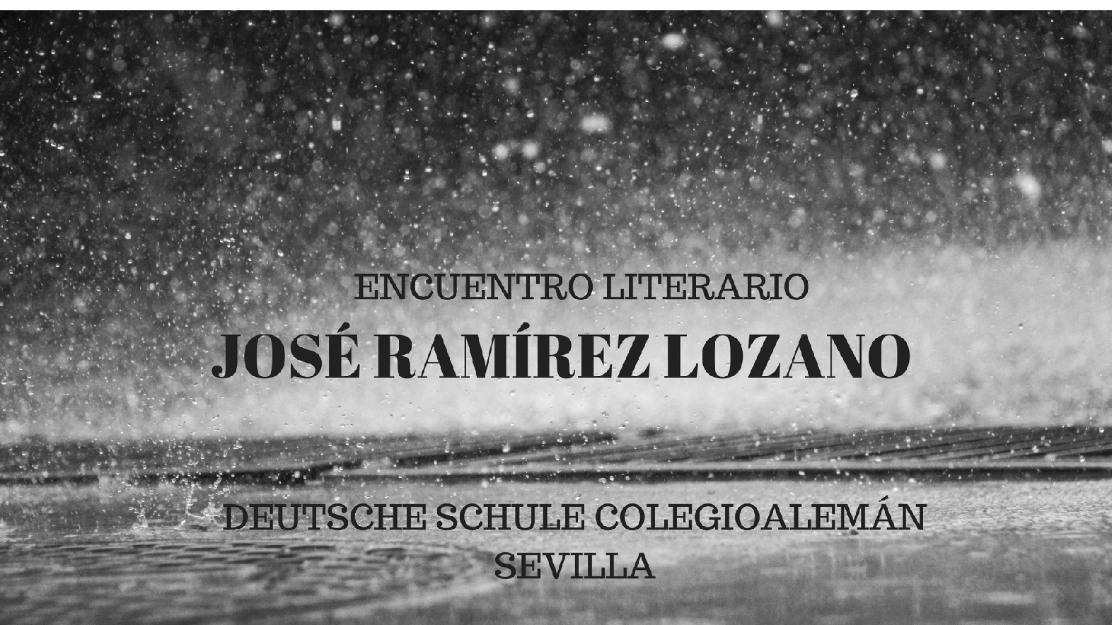 ENCUENTRO LITERARIO JOSÉ ANTONIO RAMÍREZ