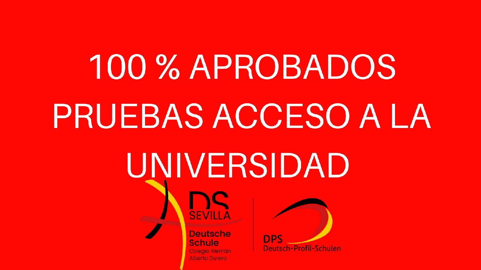 100 % APROBADOS PRUEBA ACCESO A LA UNIVERSIDAD