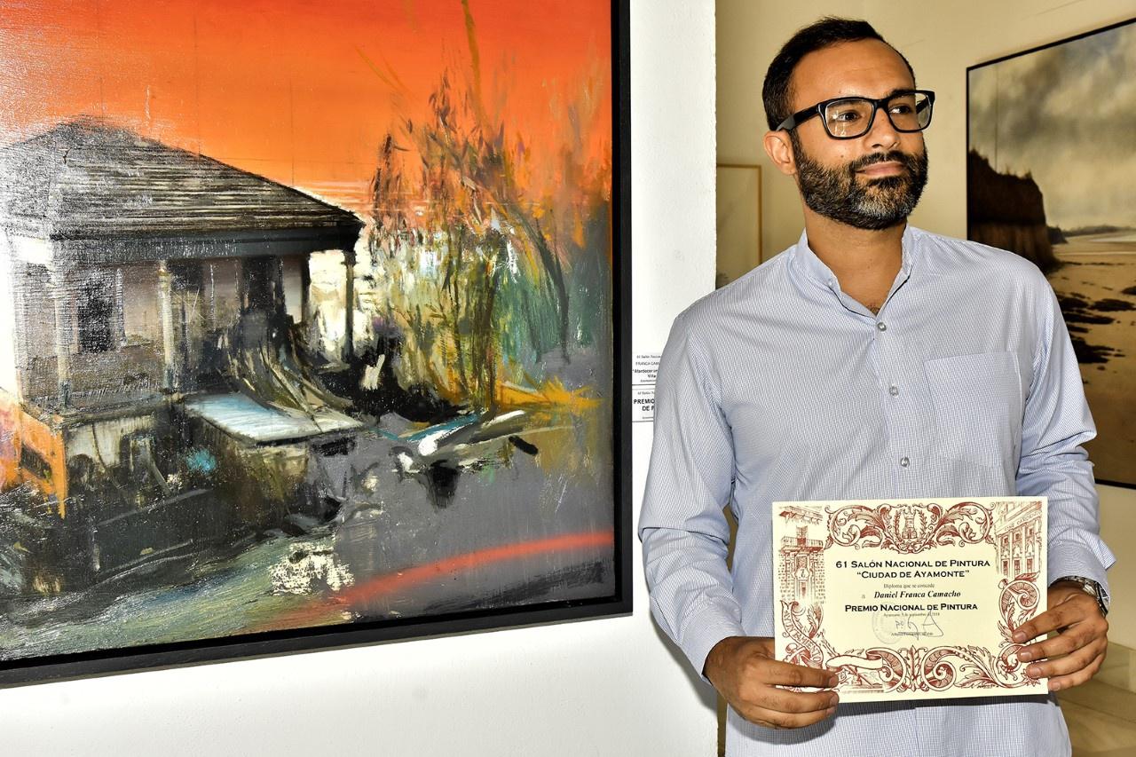 Daniel Franca Camacho, antiguo alumno de Colegio Alemán Sevilla, gana el 61º Salón Nacional de Pintura de Ayamonte