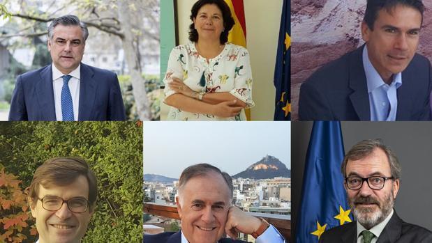 ENRIQUE VIGUERA, RICARDO MARTÍNEZ , JESÚS SILVA y  JUAN MANUEL MOLINA  ANTIGUOS ALUMNOS DEL COLEGIO ALEMÁN SEVILLA QUE ACTUALMENTE SON EMBAJADORES DE ESPAÑA