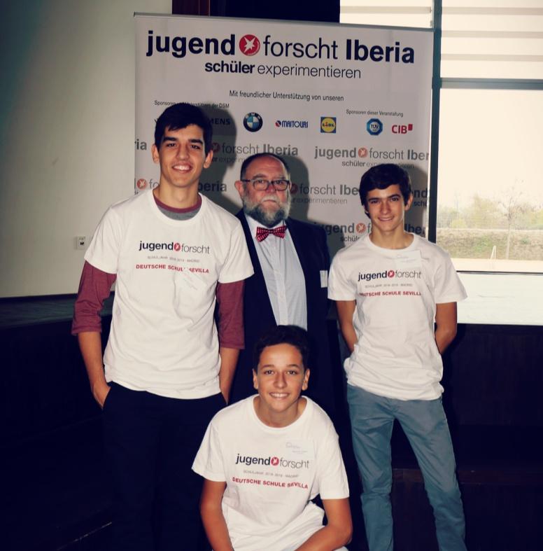 Éxito del Colegio Alemán Sevilla en el  concurso Jóvenes Investigadores Iberia organizado por los Colegios Alemanes de España y Portugal