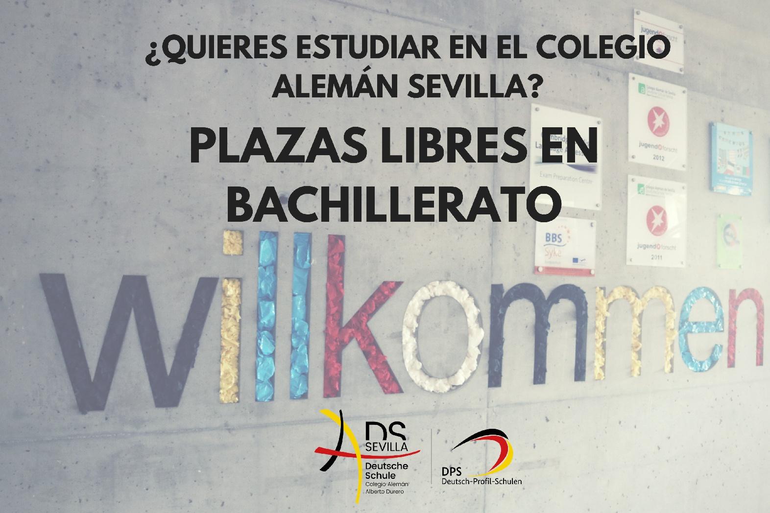 PLAZAS LIBRES EN BACHILLERATO