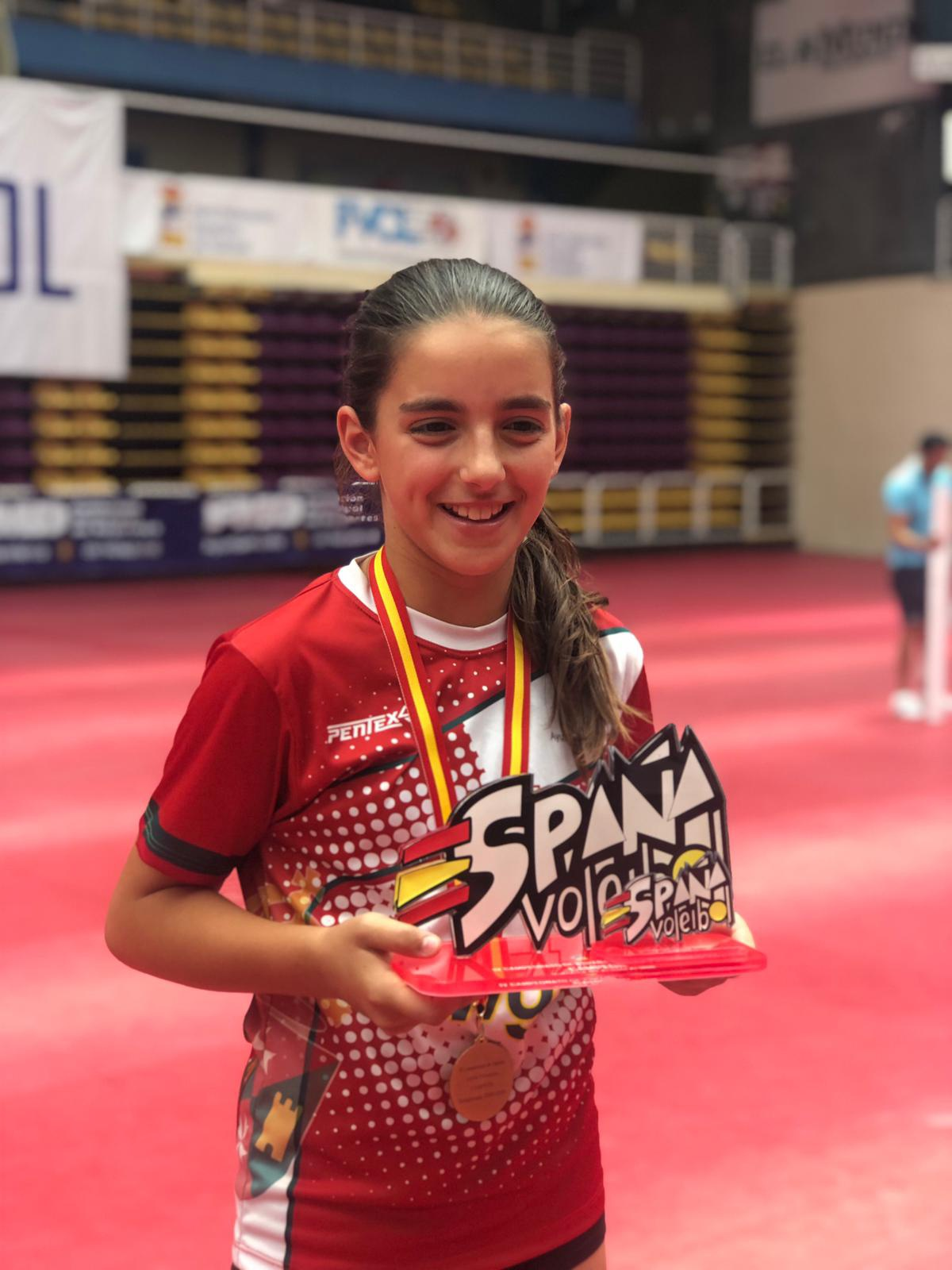 SARA GONZÁLEZ MORALES CAMPEONA DE ESPAÑA DE VOLEIBOL
