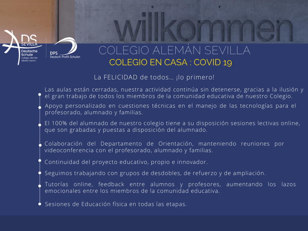 COLEGIO ALEMÁN SEVILLA : COLEGIO EN CASA COVID 19