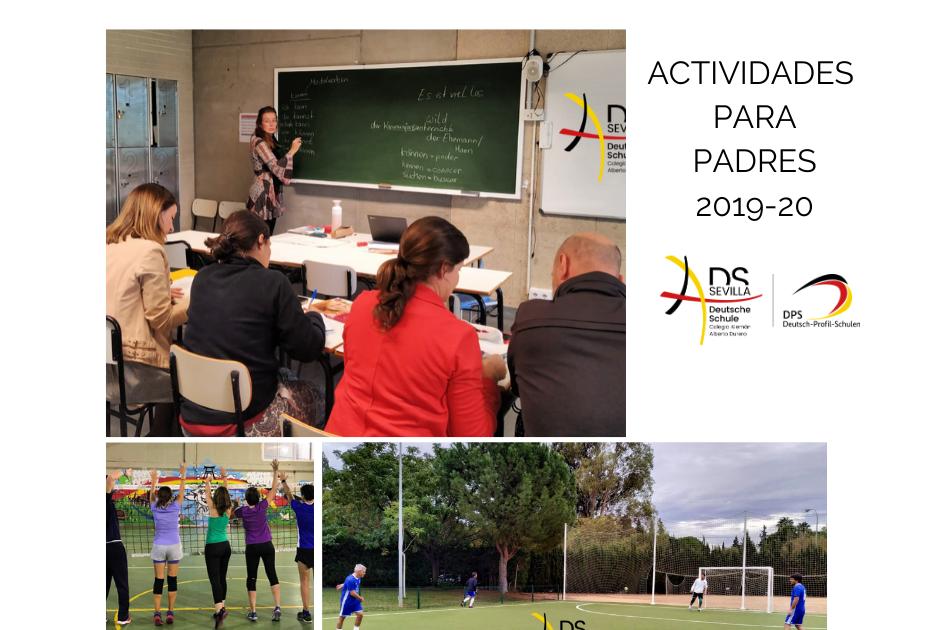 ACTIVIDADES PARA PADRES CURSO 2019-20